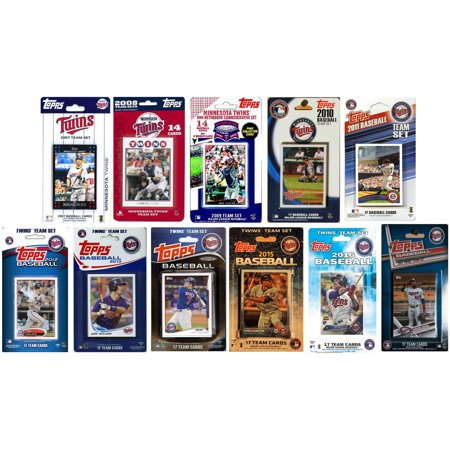 Minnesota Twins Mlb Card (C & I Collectables MLB Minnesota Twins 11 Different Licensed Trading Card Team Sets )