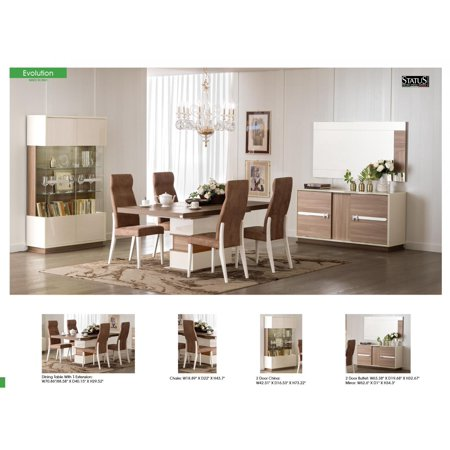 ESF Evolution CollectionnbspDining Room Set With Buffet Cabinet 10 Pcs Modern