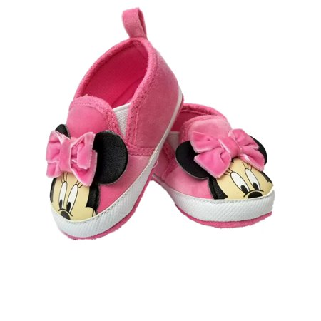 Disney Baby Infant Girls Pink Minnie Mouse Ears Loafer House Shoes](Girls Disney Shoes)