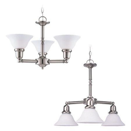 782 Sussex Single Light - Sea Gull Lighting Sussex 31060-962 3-Light Chandelier - 22 diam. in. - Brushed Nickel