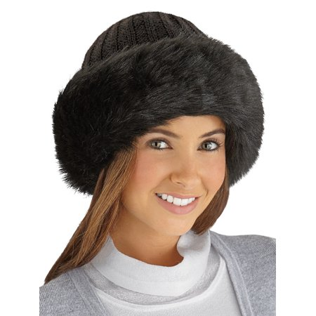 Collections Etc. - Faux Fur Trimmed Winter Fashion Hat 86309d3c552a