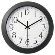 "Universal Whisper Quiet Clock, 12"", Black -UNV10451"