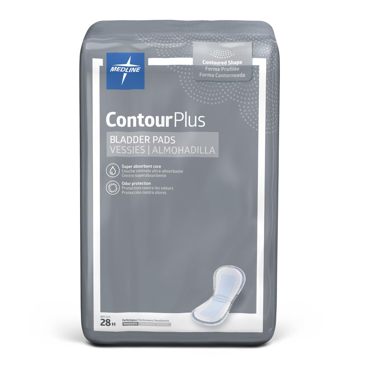 "Capri Plus Bladder Control Pads,5.5"" X 10.5"" 28 Count (Pack of 12)"