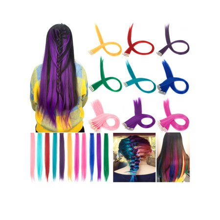 FLORATA 1pcs Colored Clip in Hair Extensions 24