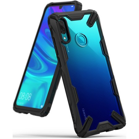 Huawei P Smart 2019 Case, Ringke [FUSION-X] Rear PC Anti-Cling Dot Matrix Tech Renovated TPU Bumper [Military Drop Tested Defense] Dual Protection Cover for P Smart 2019 -
