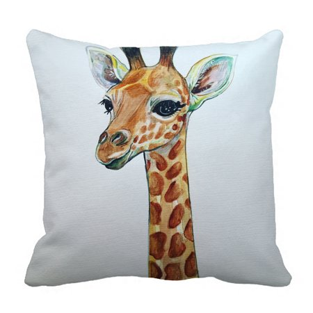 YKCG Vintage Giraffe Art Drawing Custom Pillowcase Pillow Cushion Case Cover Twin Sides 18x18 inches Custom Made Boutique Pillowcase