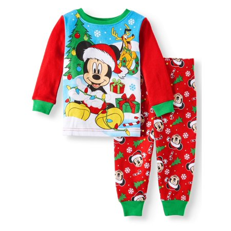 Christmas Long Sleeve Tight Fit Pajamas, 2pc Set (Baby Boys)