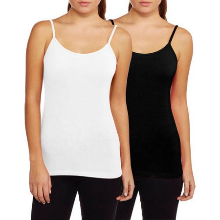 Faded Glory Women's Essential Knit Cami With Adjustable Straps, 2 Pack Image 1 of 1