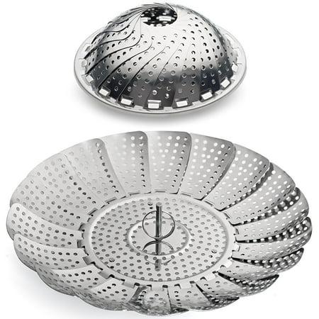 Stainless Steel Vegetable Steamer Basket Insert for Pots, Pans, Crock Pots & more 5.5