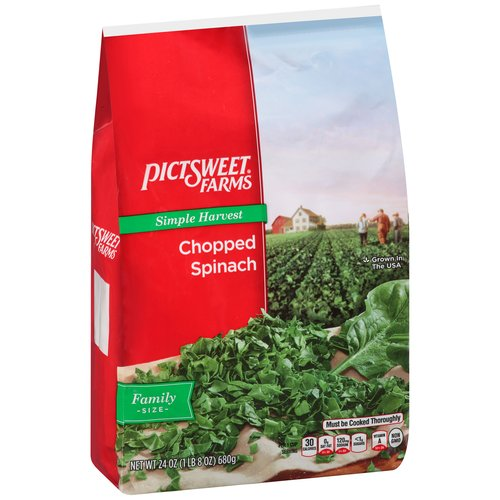 PictSweet Chopped Spinach Family Size, 24 oz