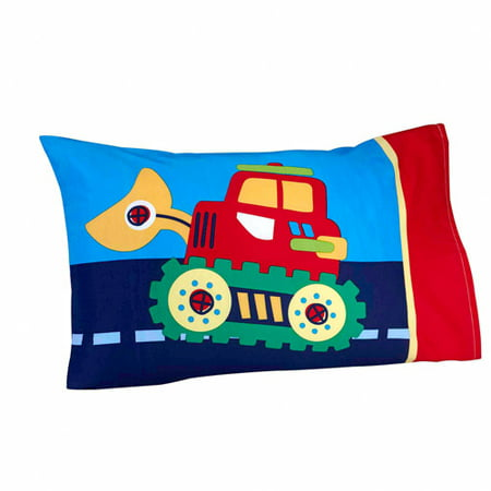 Everything Kids Under Construction 3-Piece Toddler Bedding Set with BONUS Matching Pillow Case (Toddler Bedrooms Sets)