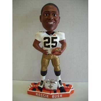 Reggie Bush New Orleans Saints Super Bowl Champions Bobblehead NFL