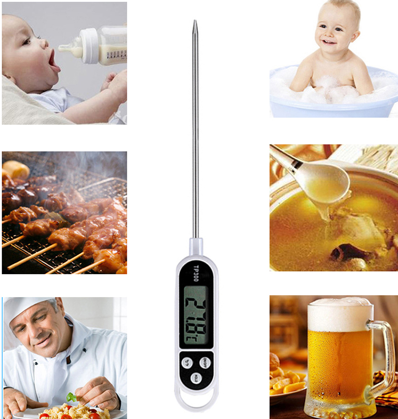 Father's Day gift Instant Read Meat Thermometer Digital Cooking Thermometer with Long Probe for Food,Kitchen