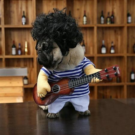 Funny Pet Guitar Clothes Dog Guitarist Dressing Costume Pet Guitar Dress - image 2 of 9