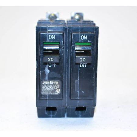 General Electric THQB2120 2 Pole, 20 Amp 120/240V Bolt-on Circuit Breaker 240v 20 Amp Circuit Breaker