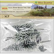 """Wee Scapes Trees, 3.5"""" to 5"""", 4/Pkg., Scenic Snow Spruce"""