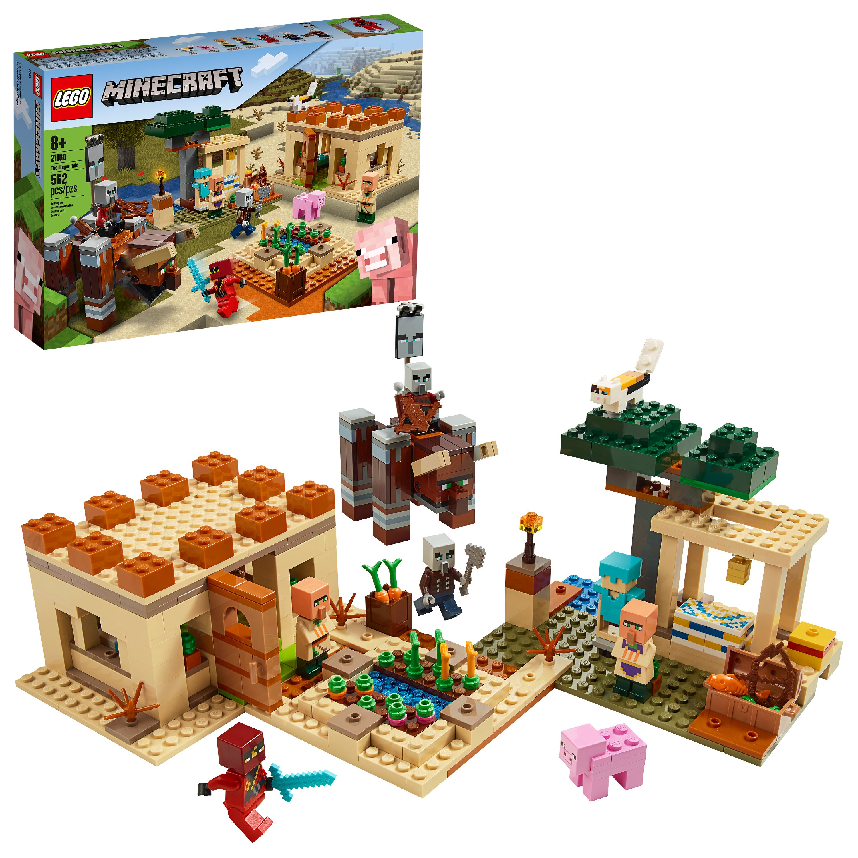 LEGO Minecraft The Illager Raid Building Toy Action Playset 21160