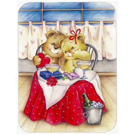 Teddy Business (Teddy Bears In Love Valentine's Day Mouse Pad, Hot Pad or Trivet APH0926MP )
