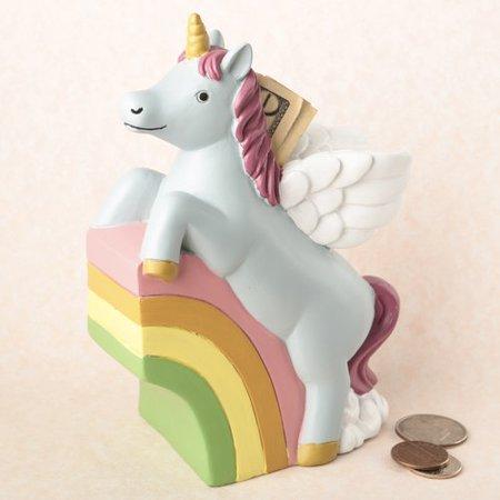 Zoomie Kids Heffron Adorable Unicorn Piggy Bank (Kids Piggy Bank)