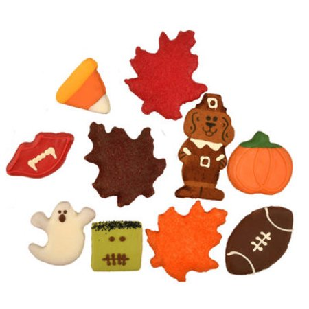 Preppy Puppy Fall & Halloween Dog Cookies, each - P3A6 - Style: Candy Corn - Halloween Candy Dog