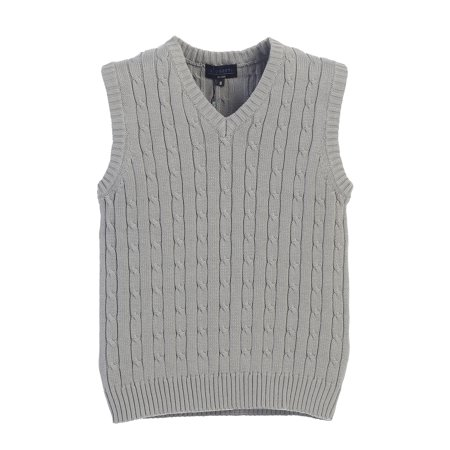 6dcd5f0c5687d Gioberti - Gioberti Boy s V-Neck Cable Knit Sweater Vest - Walmart.com