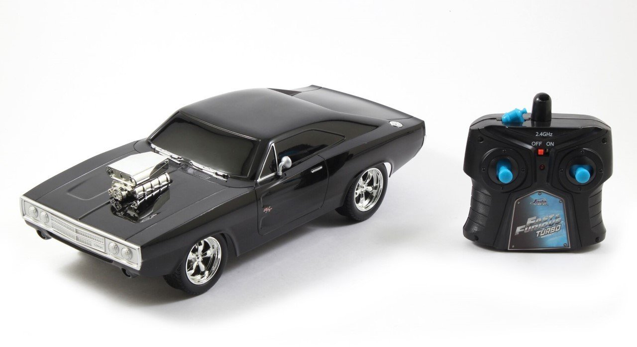 Toys Fast & Furious RC 1970 Dodge Charger RT Vehicle (1 16 Scale), Black..., By Jada Ship from US by
