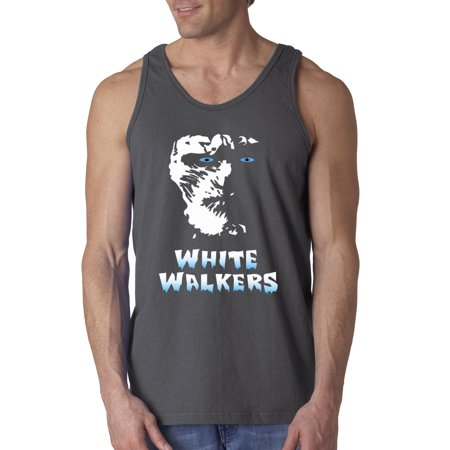 Trendy USA 493 - Men's Tank-Top White Walkers Game of Thrones 3XL - White Walker Game Of Thrones