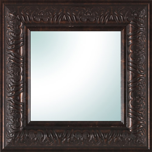 "9"" x 9"" Bronze Ornate Square Mirror by"