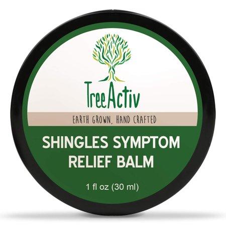 TreeActiv Shingles Symptom Relief Balm | Clay Poultice Mask to Quickly Reduce Pain, Itch, Rashes, Blisters & Irritation | Aloe, Tea Tree Oil, Baking Soda, Witch Hazel, Lemon Essential Oil (1 fl