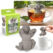"""Fred & Friends Slow Brew Sloth Tea Infuser Heat-resistant, BPA-phthalate-free Silicone [2.32"""" x 1.24"""" x 2.82""""]"""