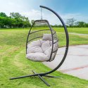 Barton Hanging Egg Swing Chair Soft Cushion Large Basket Patio Seating
