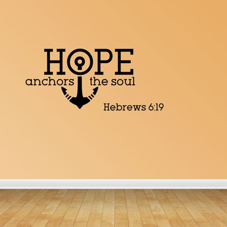 Hope Anchors Soul Vinyl Wall Decals Vinyl Decals Nautical Decal ...