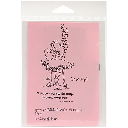 Stamping Bella Unmounted Rubber Stamp-Uptown Girl Isabelle Loves I