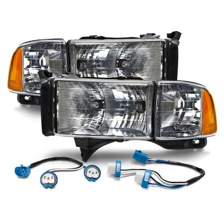 1994-2002 Dodge Ram Truck Sport-Style Conversion Headlights Kit New CH2502123 &