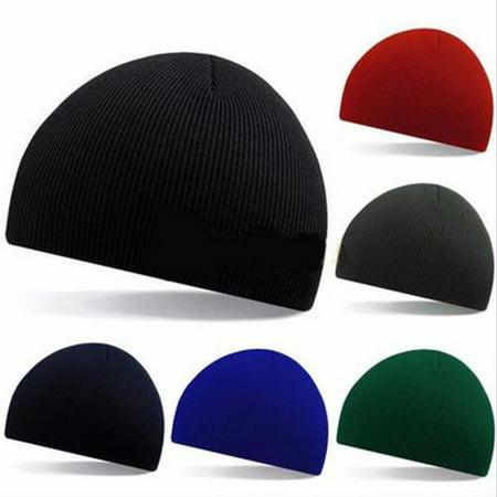Unisex Men Women Hip-Hop Warm Winter Wool Knit Ski Beanie Skull Slouchy Cap Hat