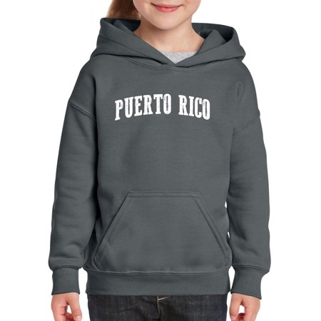 Puerto Rico Unisex Hoodie For Girls and Boys Youth Sweatshirt
