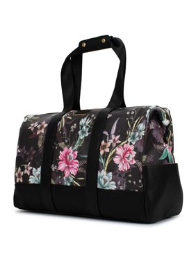BADGLEY MISCHKA Essence Travel Tote Weekender Bag (Winter Flowers)