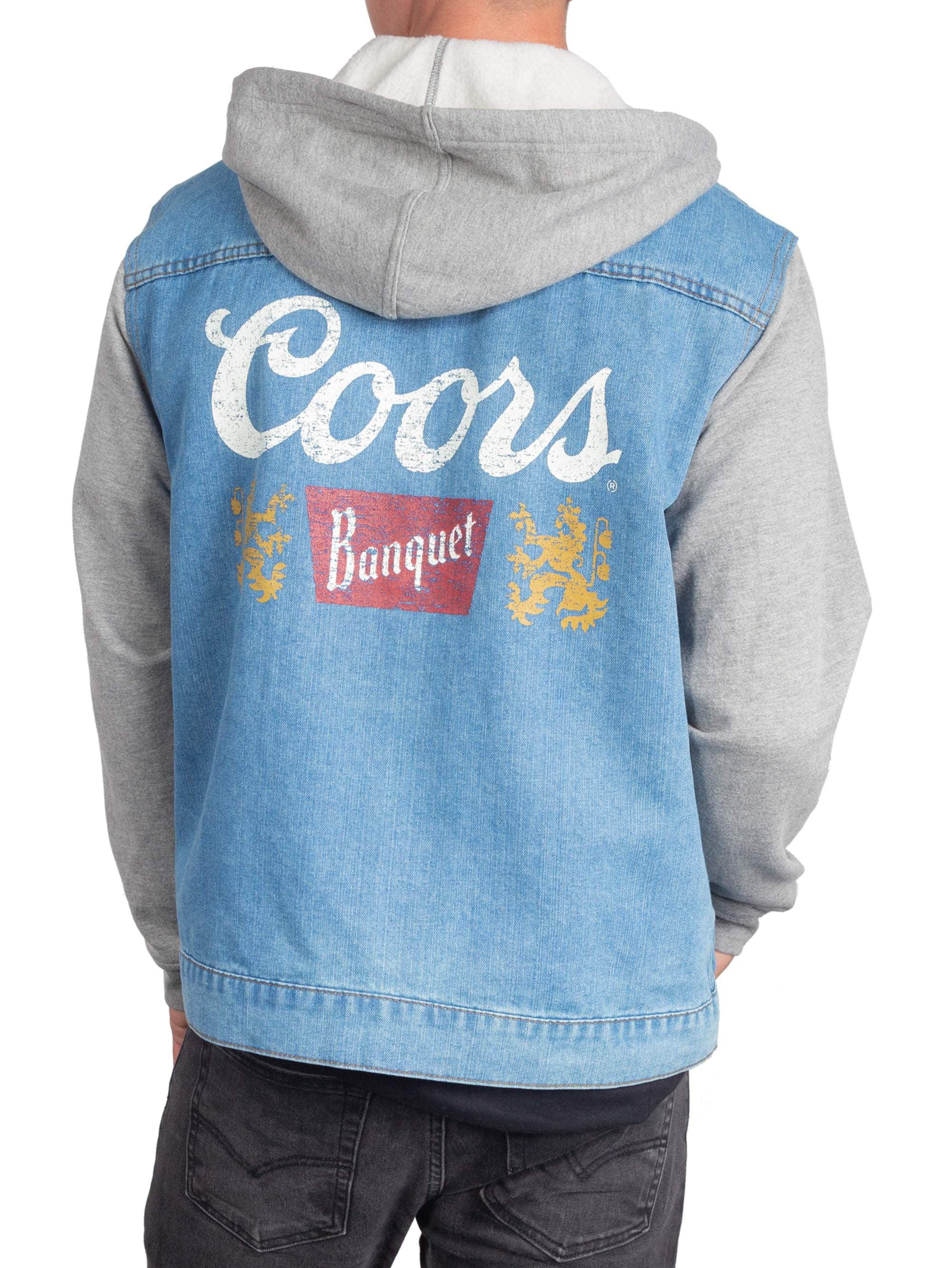707db18141d Food & Beverage - Classic Coors Men's Denim Jacket Hoodie , up to size 2XL  - Walmart.com