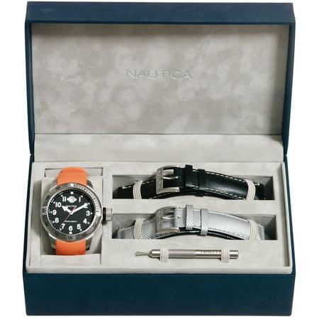 MEN'S WATCH BFC DIVER BOX SET 37MM (Nautica Watch Set)
