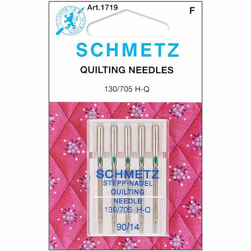 Euro-Notions Quilt Machine Needles, Size 14/90, 5/pkg