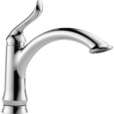 Delta Faucet 1353 Dst Linden Kitchen Faucet With Optional Base Plate Chrome Brickseek