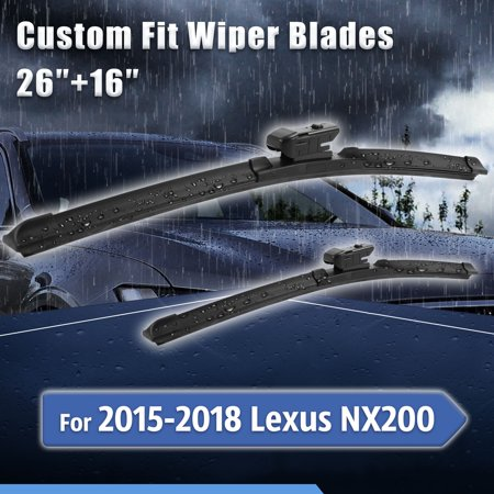 Custom Fit Windshield Wiper Blades for 2015-2018 Lexus
