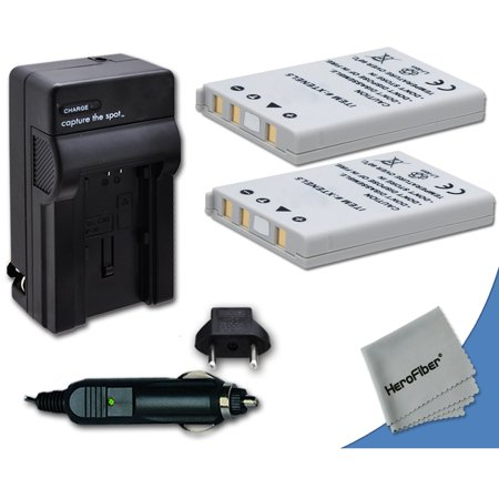 2 High Capacity Replacement Nikon EN-EL5 Batteries with AC/DC Quick Charger Kit Made for Nikon Coolpix P500 Digital Camera ()