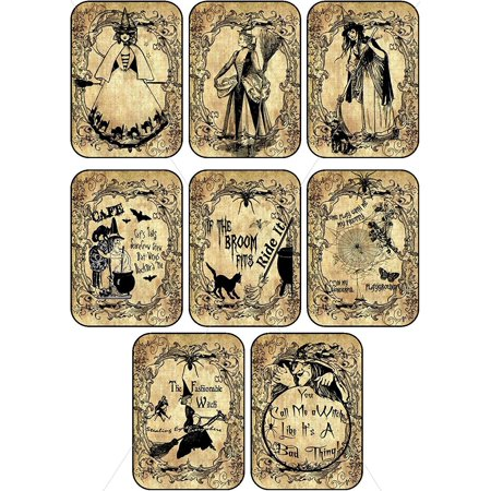 Vintage images Halloween witches pumpkin cat bottle stickers labels Potion Bottle Sticker Labels Voodoo New Orleans Halloween Wine Mardi Gras 8 bottle label stickers.., By Holidays R Us Ship from US - Halloween Witch Potion Labels