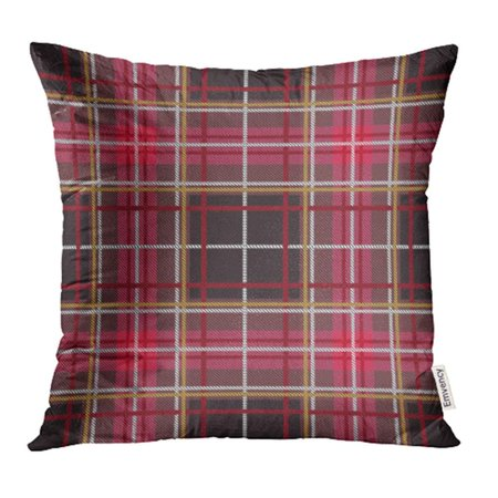 ARHOME Green Fall Tartan Pattern Plaid Christmas Scottish Flat Style Design Red Abstract Pillow Case Pillow Cover 20x20 inch Throw Pillow Covers