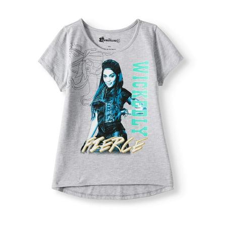 The Descendants Glitter Graphic T-Shirt (Little Girls & Big