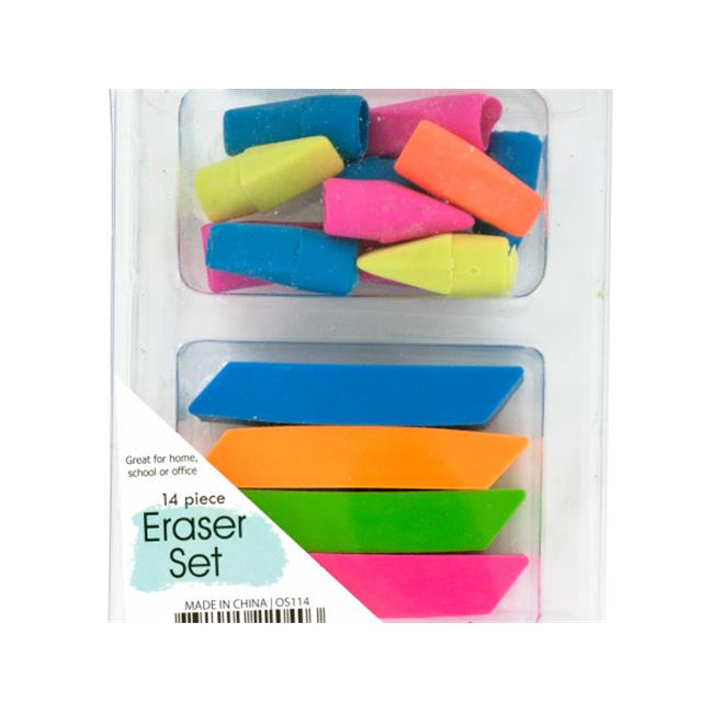 Bulk Buys OS114-72 Colorful Eraser Set - 72 Piece