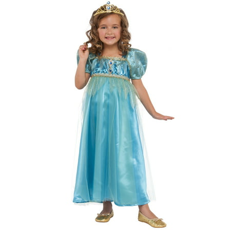 Blue Crystal Princess Girl Child Royal Pretend Play Set Halloween - Girls Princess Halloween Costumes