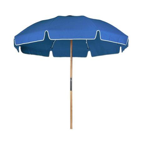 7.5 ft. Avalon Fiberglass Commercial Grade Beach Umbrella with Ash Wood Pole & Acrylic Fabric