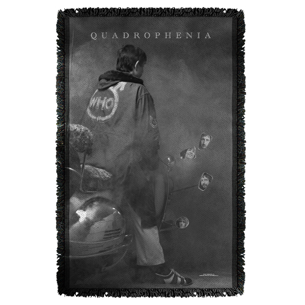 The Who Quadrophenia Woven Throw White 48X80 White 48X80